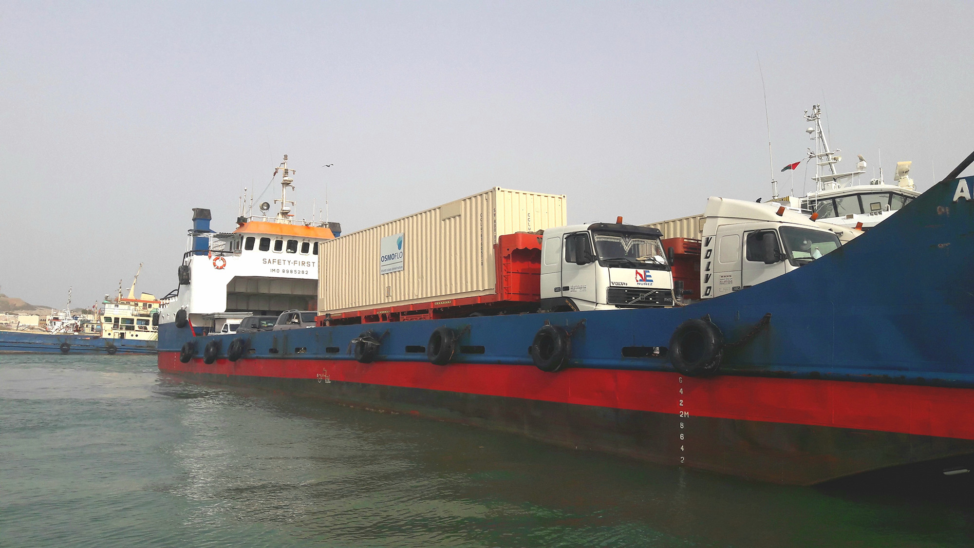 Masirah plant being transported by ferry
